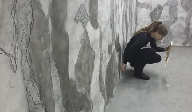 La artista M.Lohrum presenta en Espacio TEA Garachico 'Re-Thinking the Trace', muestra basada en el dibujo performativo